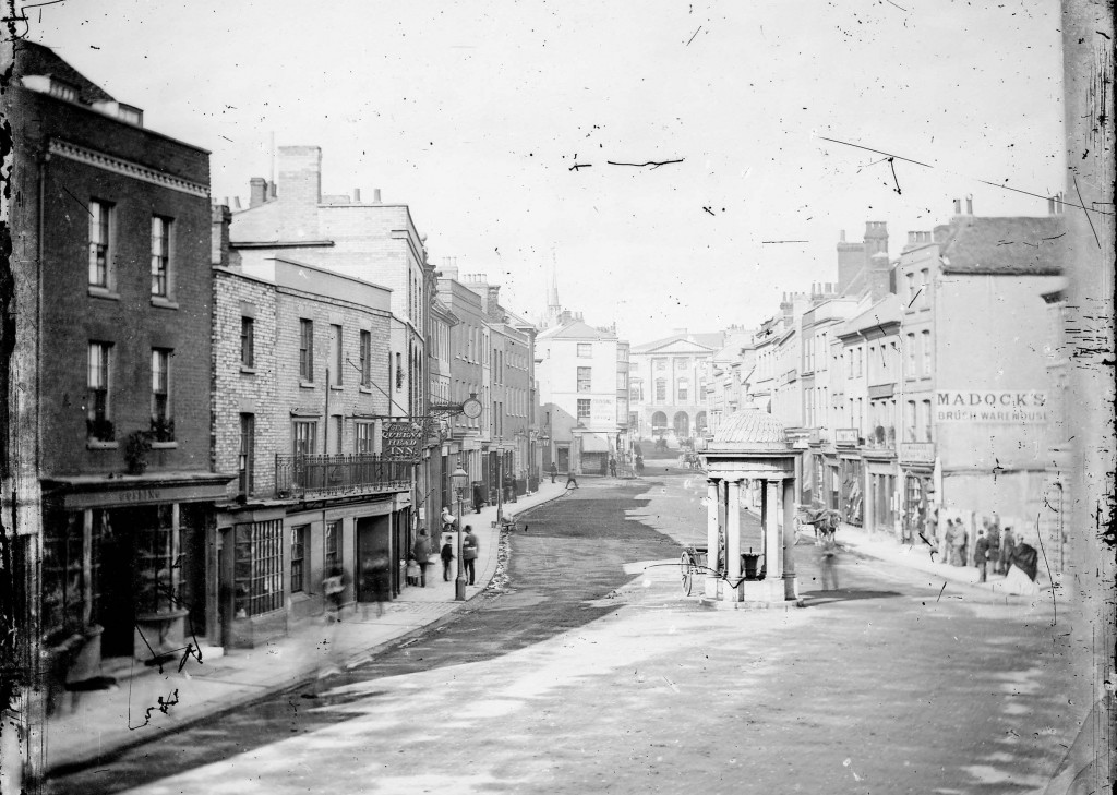 One of the earliest photographs of Chelmsford High Street, by Fred Spalding c.1869