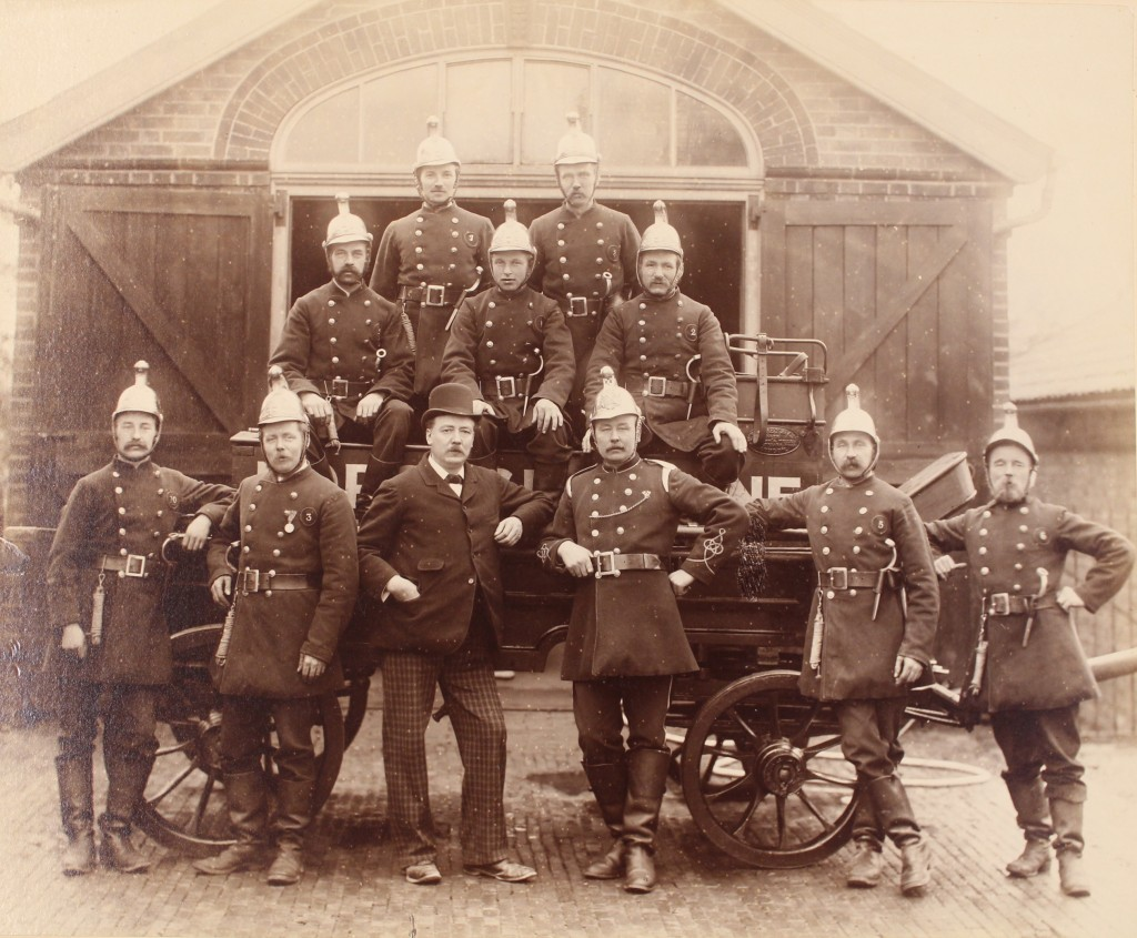 Chelmsford Borough Fire Brigade, late nineteenth century. From the Fred Spalding Collection (I/Sp 15/346)