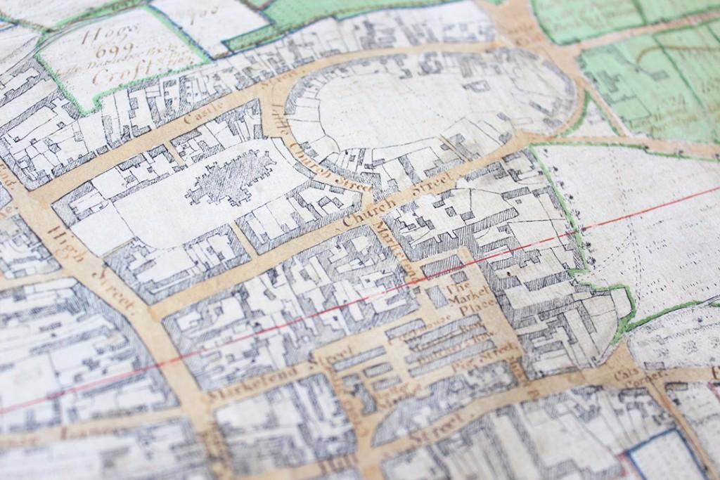 Edward John Eyre's map of Saffron Walden, 1758
