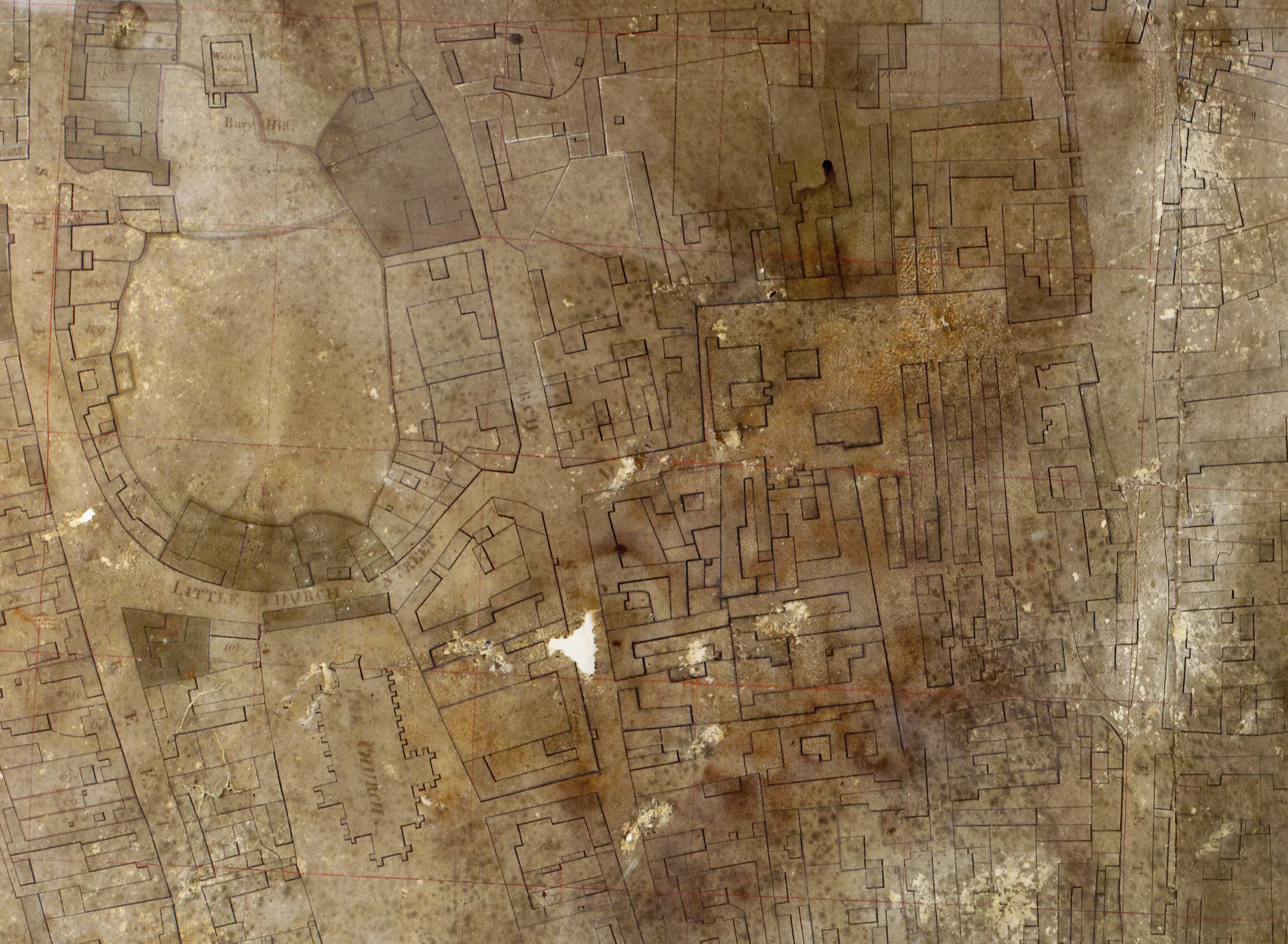 Edward John Eyre's 1757 map of Saffron Walden