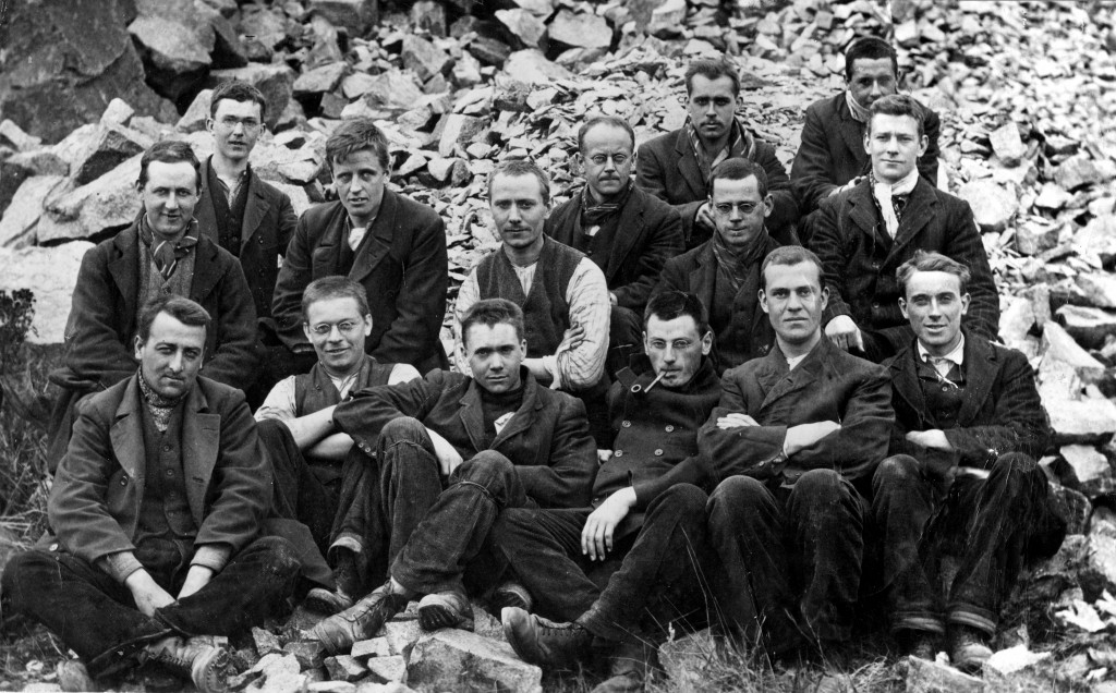 Group of Conscientious Objectors; Cornelius Barritt is in the back row, third from the right. Image courtesy of the Peace Pledge Union.