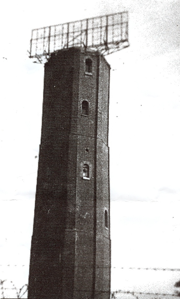 The Naze Tower in use as a radar station in WW2
