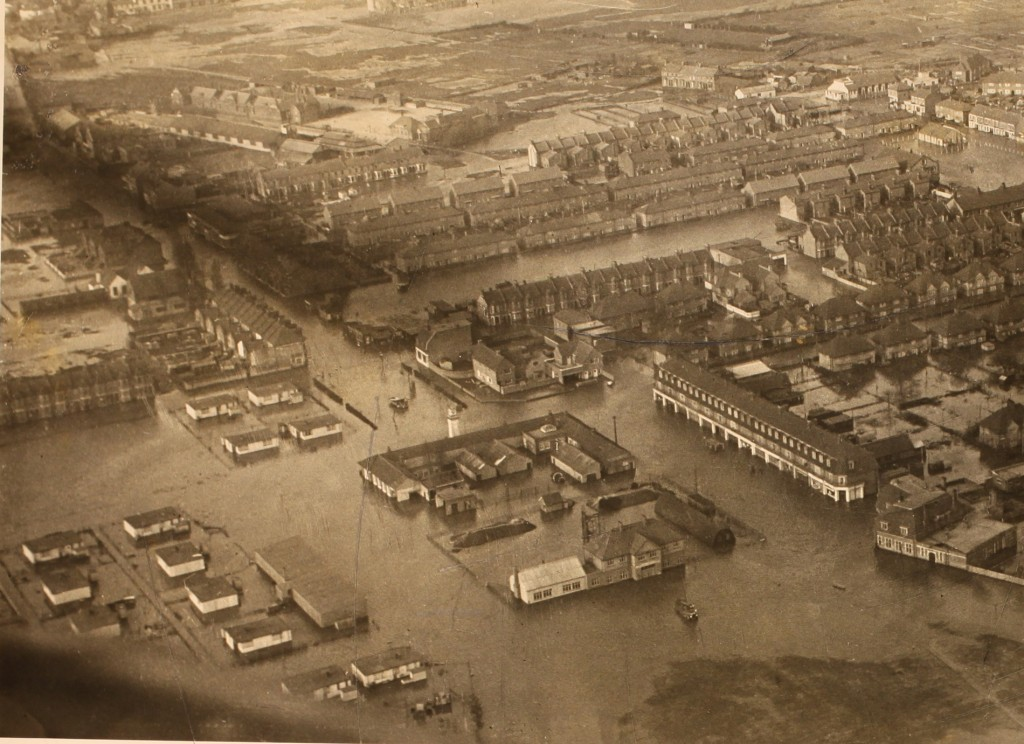Canvey Island underwater (ref??)