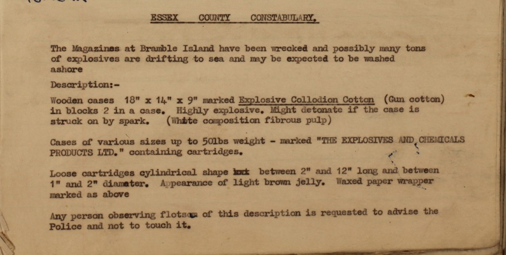 Harwich police station telephone log (D/Z 35/6/1)