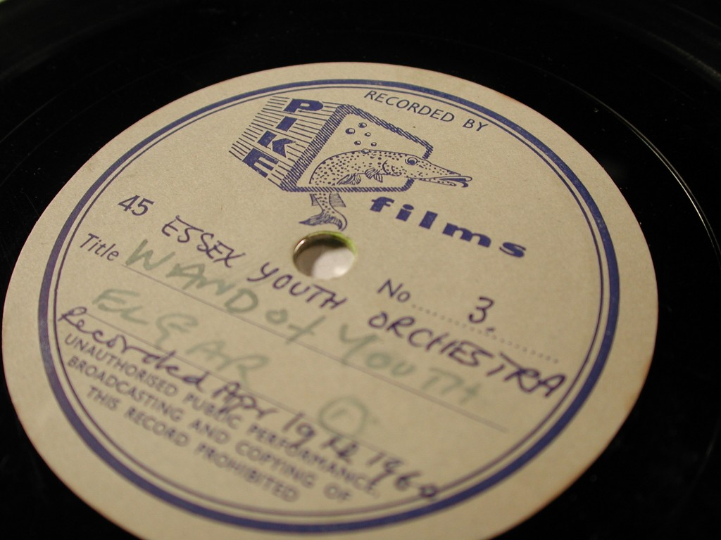 Image of Essex Youth Orchestra 45rpm lacquer disc from 1960