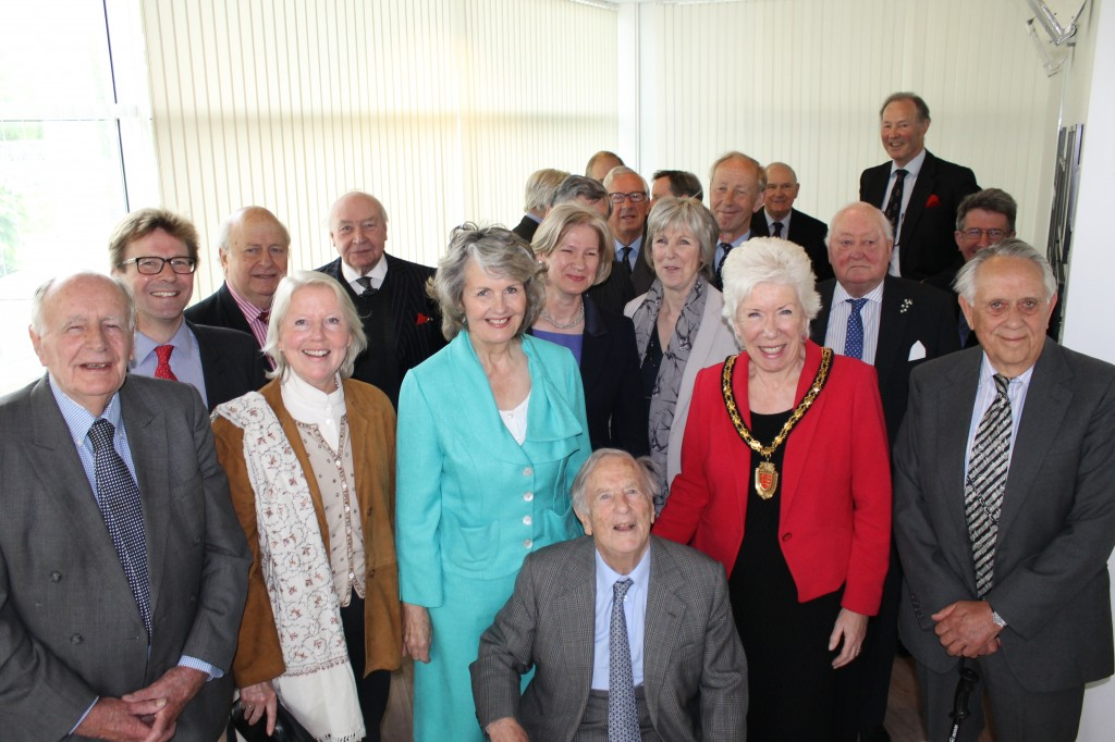 High Sheriffs past and present gathered at ERO, hosted by Cllr Kay Twitchen (in red jacket)