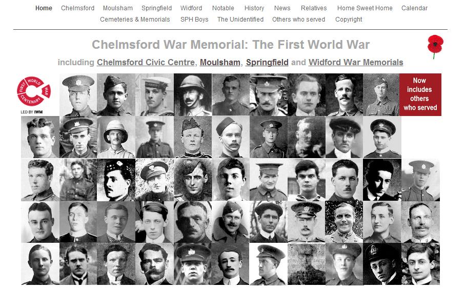 Chelmsford war memorials homepage
