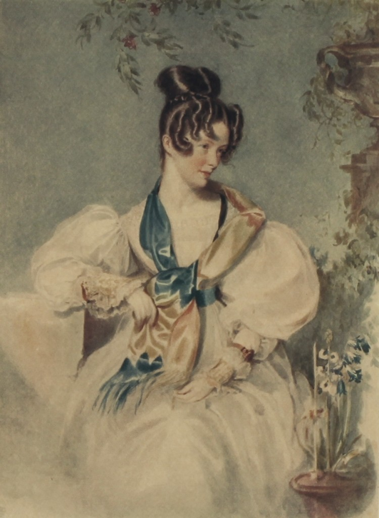 Clarissa Trant in 1829, by David Maclise Frontispiece to C.G. Luard (ed.), The journal of Clarissa Trant 1800-1832 (London 1924), which is available in the ERO Library.