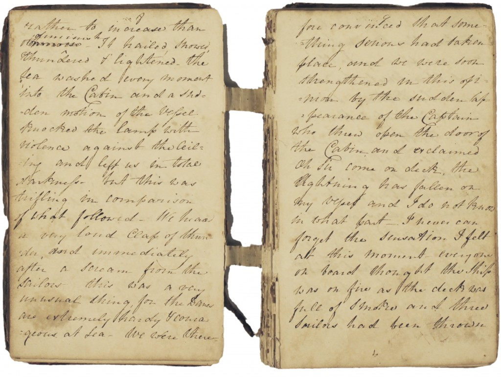 Extract from Clarissa Trant's journal, January 1815 (D/DLu 16/1)
