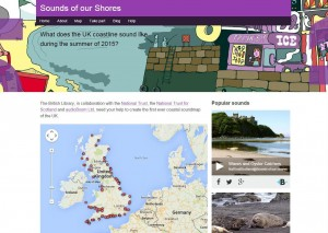 Screenshot of Sounds of our Shores project website