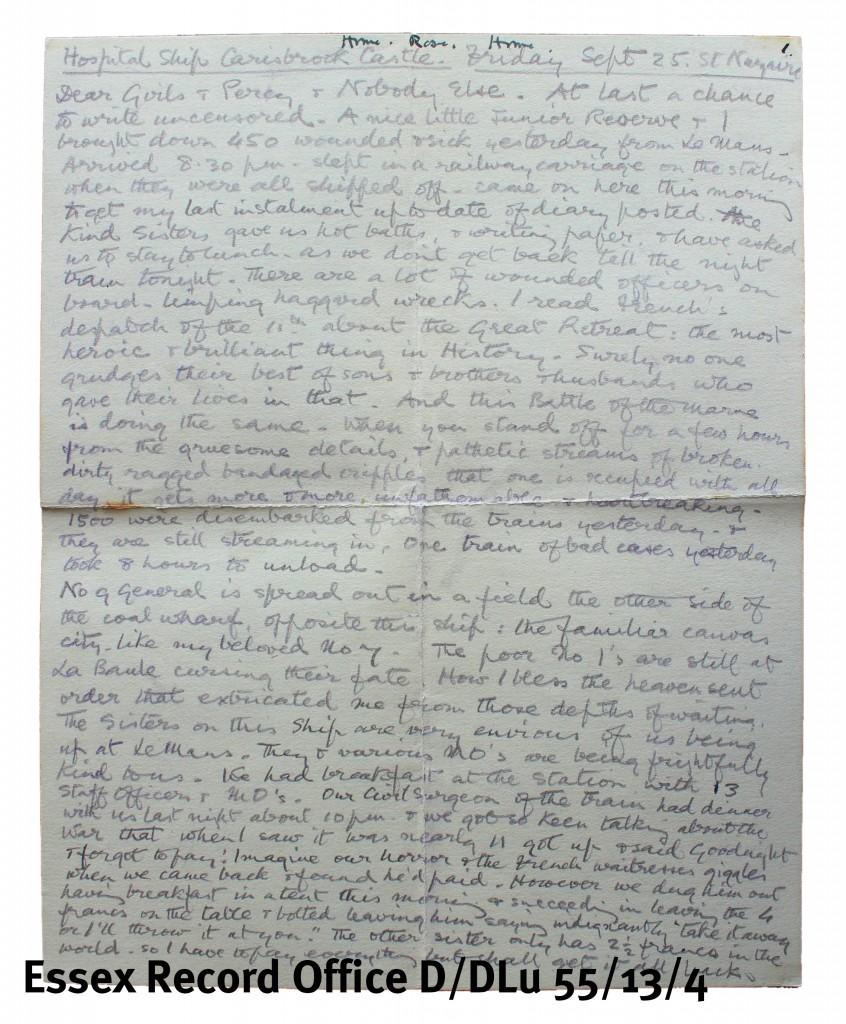 Kate Luard letter