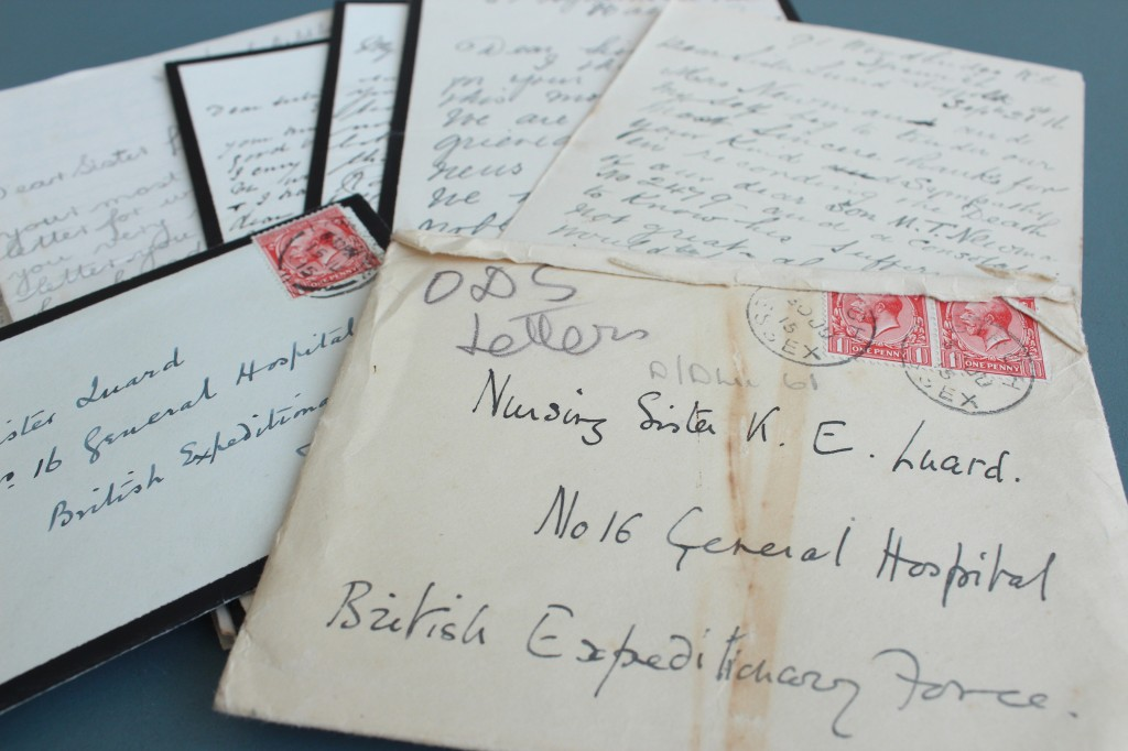 Just a few of the many letters the Luard famiy exchanged during the War