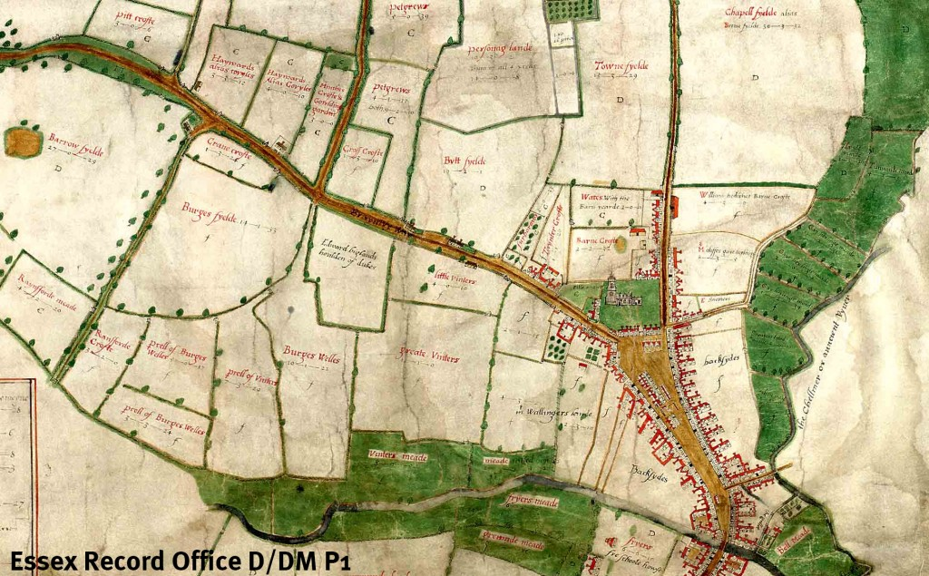 John Walker's map of Chelmsford, 1591