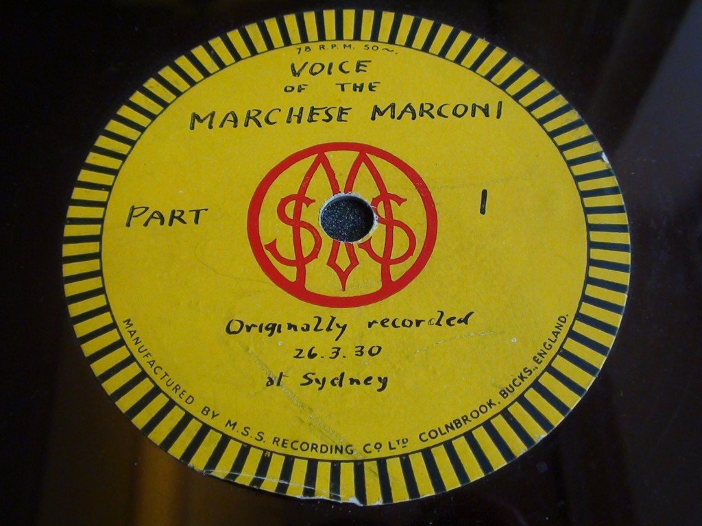 Marconi disc label