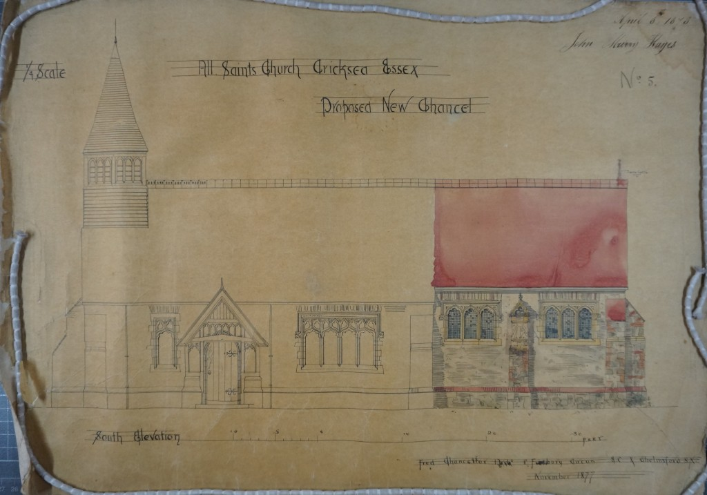 1877 chancel - S elevation