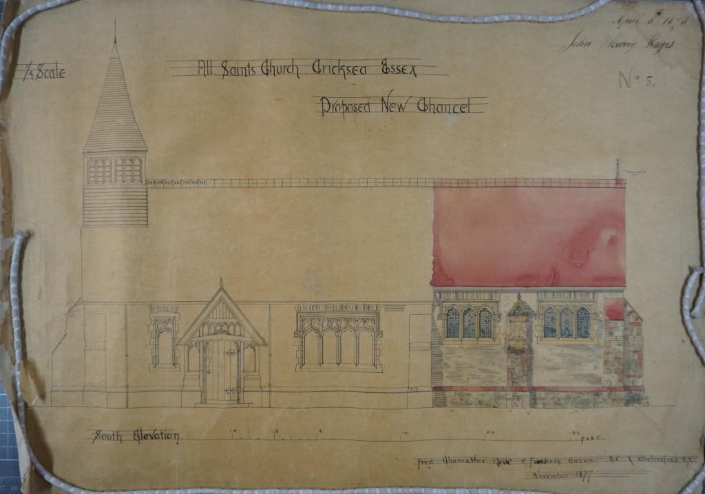 1877 chancel - S elevation