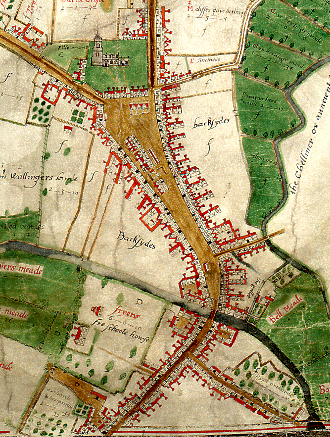 John Walker's map of Chelmsford, 1591