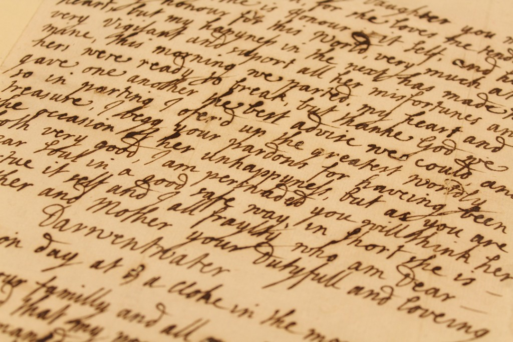 The Earl of Derwentwater's letter to his in-laws as his execution approached, telling them how much he loved their daughter and apologising for the unhappiness he had brought to her