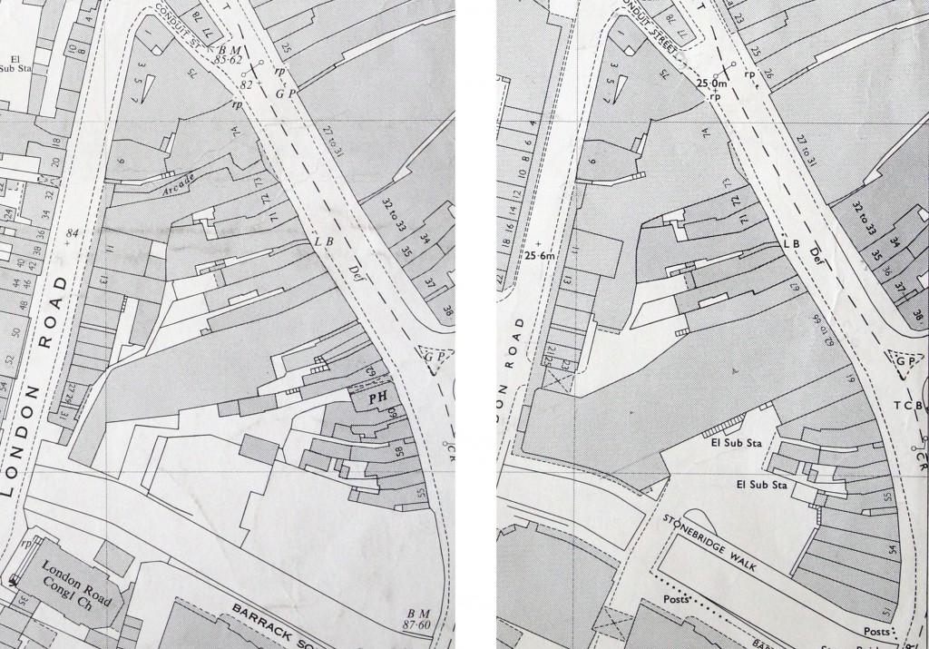 Chelmsford OS maps 1963 1974