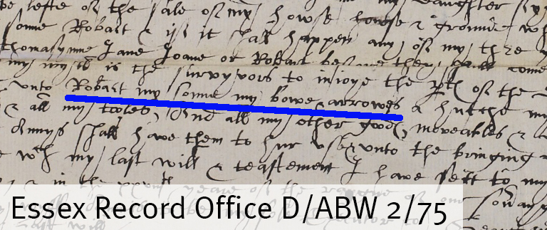 Will of George Ardlye of Weeley (D/ABW 2/75)