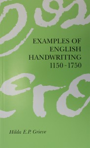 Examples of English Handwriting