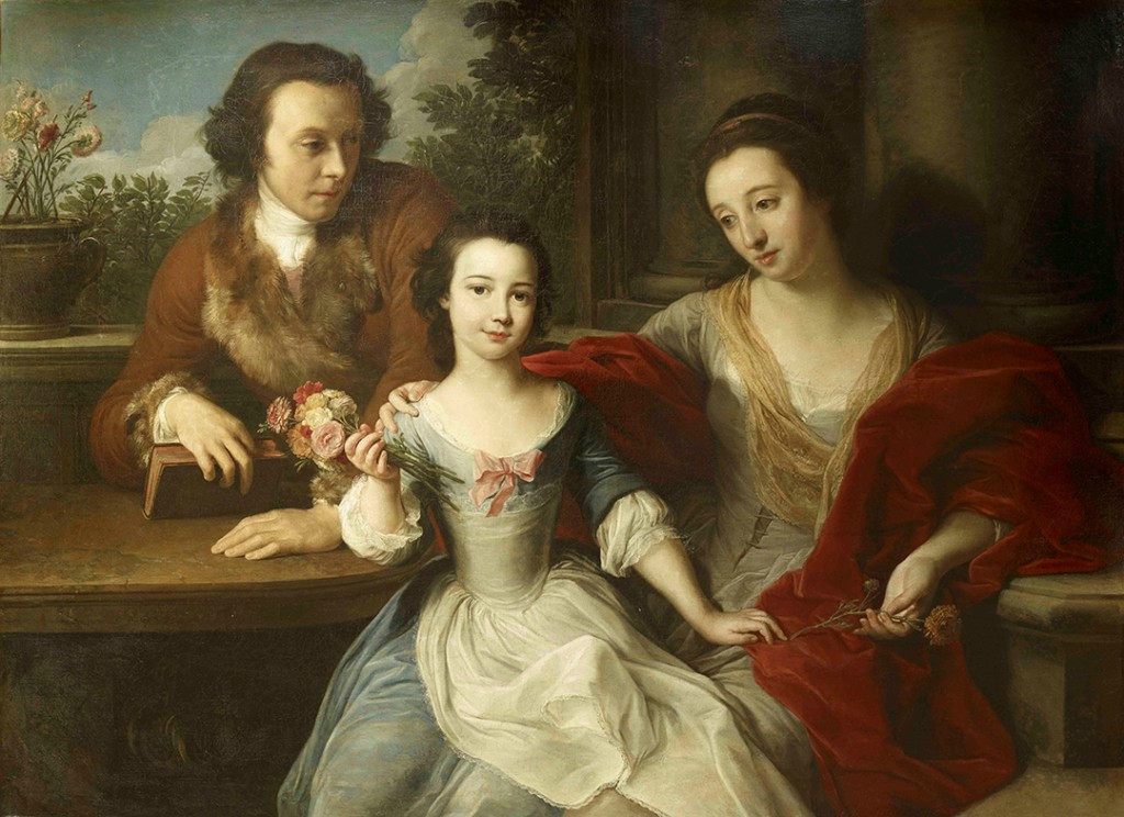 Batoni portrait of Barrett-Lennard family