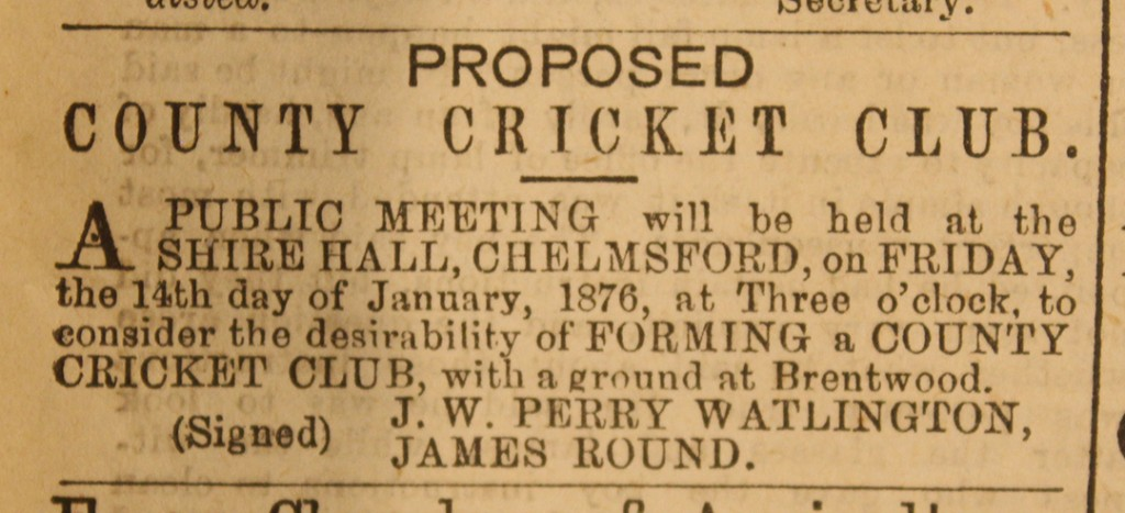 Chelmsford Chronicle 7 January 1876