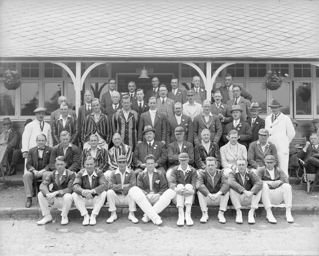 Photograph of the Essex and Somerset teams in 1926, by Fred Spalding (D/F 269/1/4691)