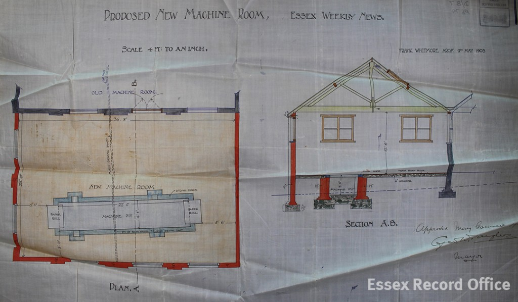 Building plan of the machine room, 26 High Street. (D/B 7 Pb74)