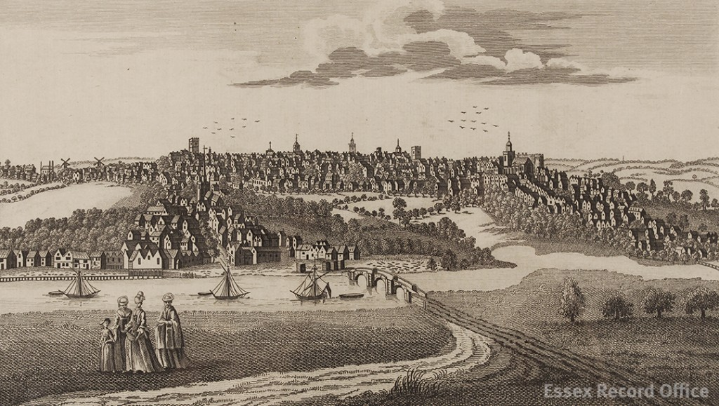 'Perspective view of Colchester in the County of Essex', engraved for The Complete English Traveller (I/Mb 90/1/)