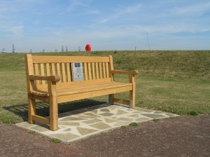 Photograph of Harwich listening bench on St Helen's Green