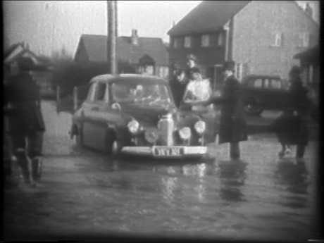 Still image from the 1953 documentary about the floods on Canvey Island (VA 3/8/4/1)
