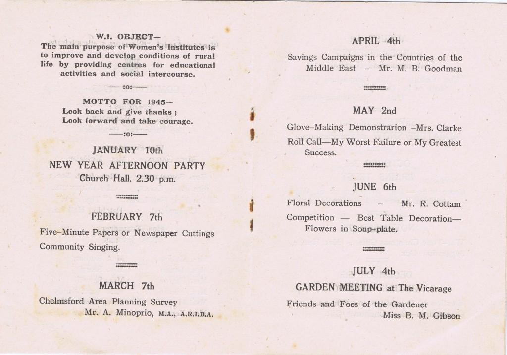 Broomfield WI Membership Cards Ethel Crozier 1945 3