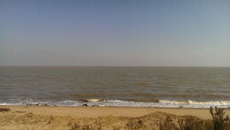 Photograph taken on beach at Bradwell-on-Sea