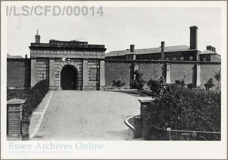 Black and white image of Chelmsford Prison