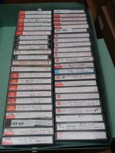 Colour picture of box of cassette tapes