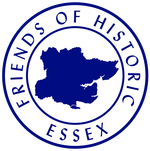 Blue circular logo for Friends of Historic Essex