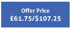 Offer Price £61.75 / $107.25